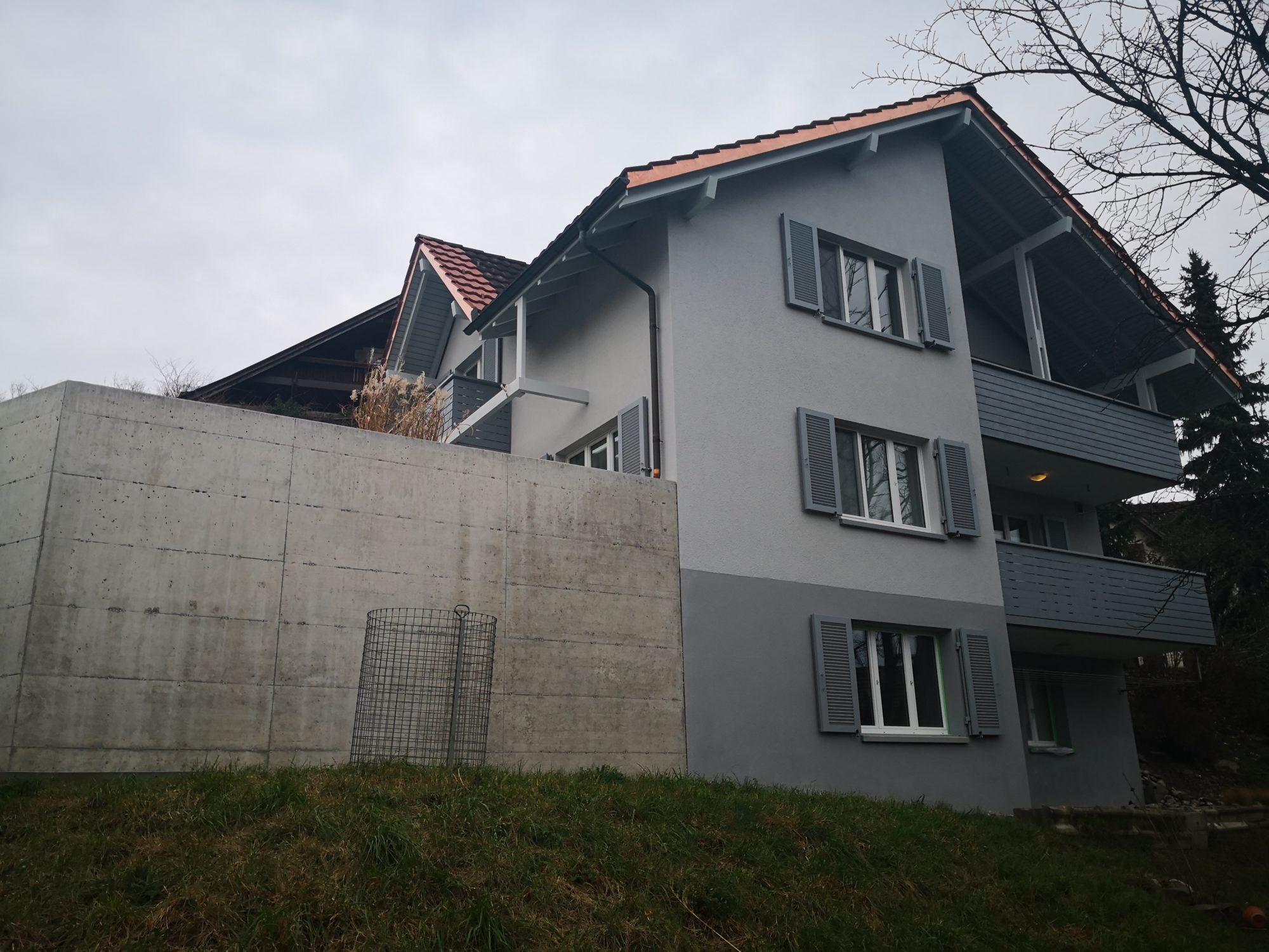 Fassadenrenovation EFH, Sevelen